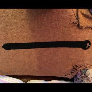 Black Anthropologie belt